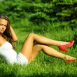 Woman on the grass — Stock Photo #8568119