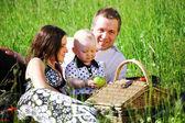 Familj picknick — Stockfoto
