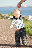 Boy play soccer — Stock Photo