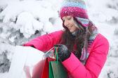 Winter shopping — Stock Photo
