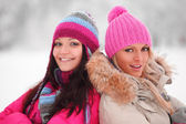 Winter women — Stock Photo