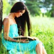 Girl with book — Stock Photo #8691778