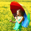 Woman under umbrella — Stock Photo #8691852
