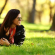 Woman on green grass — Stock Photo #8692402