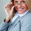 Business woman in glasses — Stock Photo #8694381