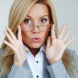 Business woman in glasses — Stock Photo #8694413
