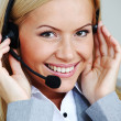 Woman call with headset — Stock Photo #8694508