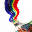 Rainbow paint - Stockfoto