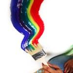 Rainbow paint — Stock Photo