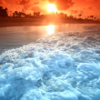 Ocean sunrice - Stock Photo