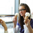 Women licking ice cream — Stock Photo #8925971