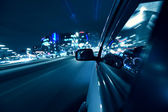 Night car drive — Stock Photo