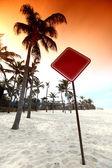 Desert sign — Stock Photo