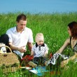 Happy family picnic — Stock Photo