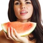 Eat watermelon — Stock Photo #8941031
