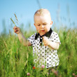 Boy in grass — Foto de Stock