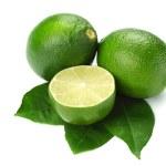 Limes on white — Stock Photo