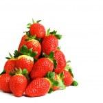 Strawberry pile isolated — Stock Photo #8979164