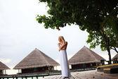 Mujer de vestido — Foto de Stock