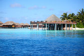 Maldivian houses — Stock Photo