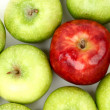 Foto Stock: Red and green apples