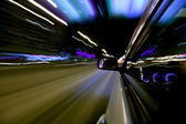 Night car drive — Stock Photo