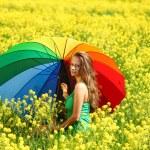Woman under umbrella — Stock Photo #9067775