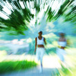 Woman run — Stockfoto