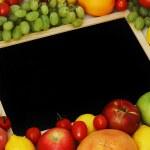Desk in fruit — Stock Photo