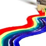 Rainbow paint — Stock Photo #9068402