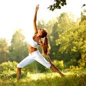 瑜伽 — 图库照片