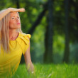 Woman on grass — Stock Photo