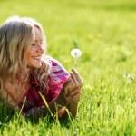 Girl with dandelion — Stock Photo #9148030