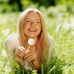 Girl with dandelion — Stock Photo #9148049