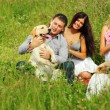 Friends and dog — Stock Photo #9252460