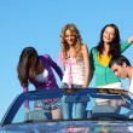 Friends in car — Stock Photo #9253252