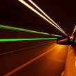 Night drive — Stock Photo