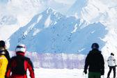 Skiërs — Stockfoto