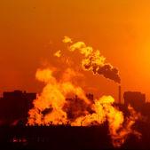 Morning warming emissions — Stock Photo