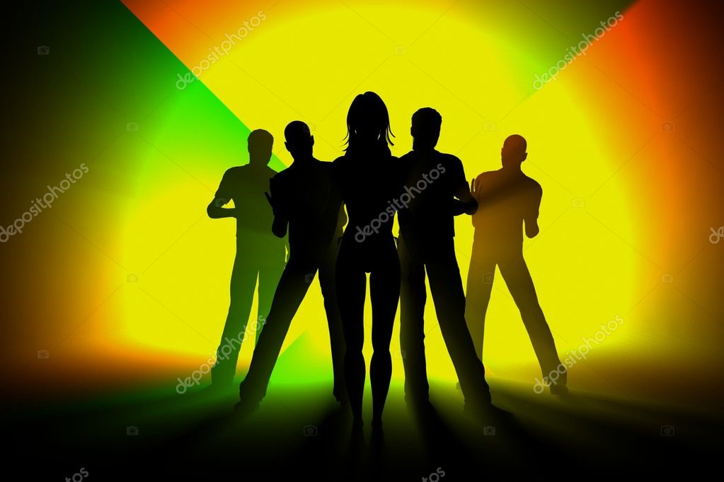 Party background rays of music behind 3d  Stock Photo #9356165