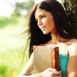 Girl with book — Stock Photo #9386649