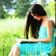 Girl with book — Stock Photo #9386651