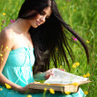 Girl with book — Stock Photo #9386652