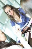Girl on examinination — Stock Photo