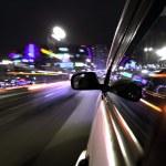 Night car drive — Stock Photo #9489031