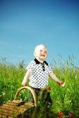 Boy on picnic — Stock Photo