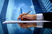 Trabajo de agente inmobiliario — Foto de Stock