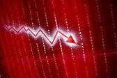 Rote kurve — Stockfoto