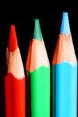 Pencils on black — Stock Photo