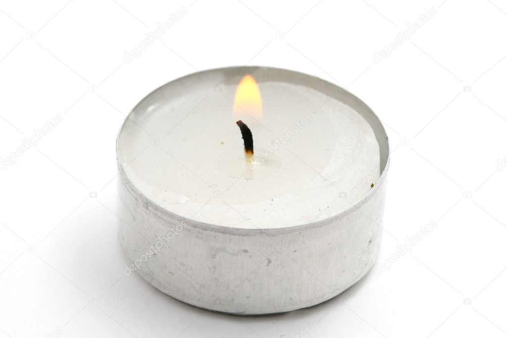 Candle isolated on white background — Stock Photo #9799060